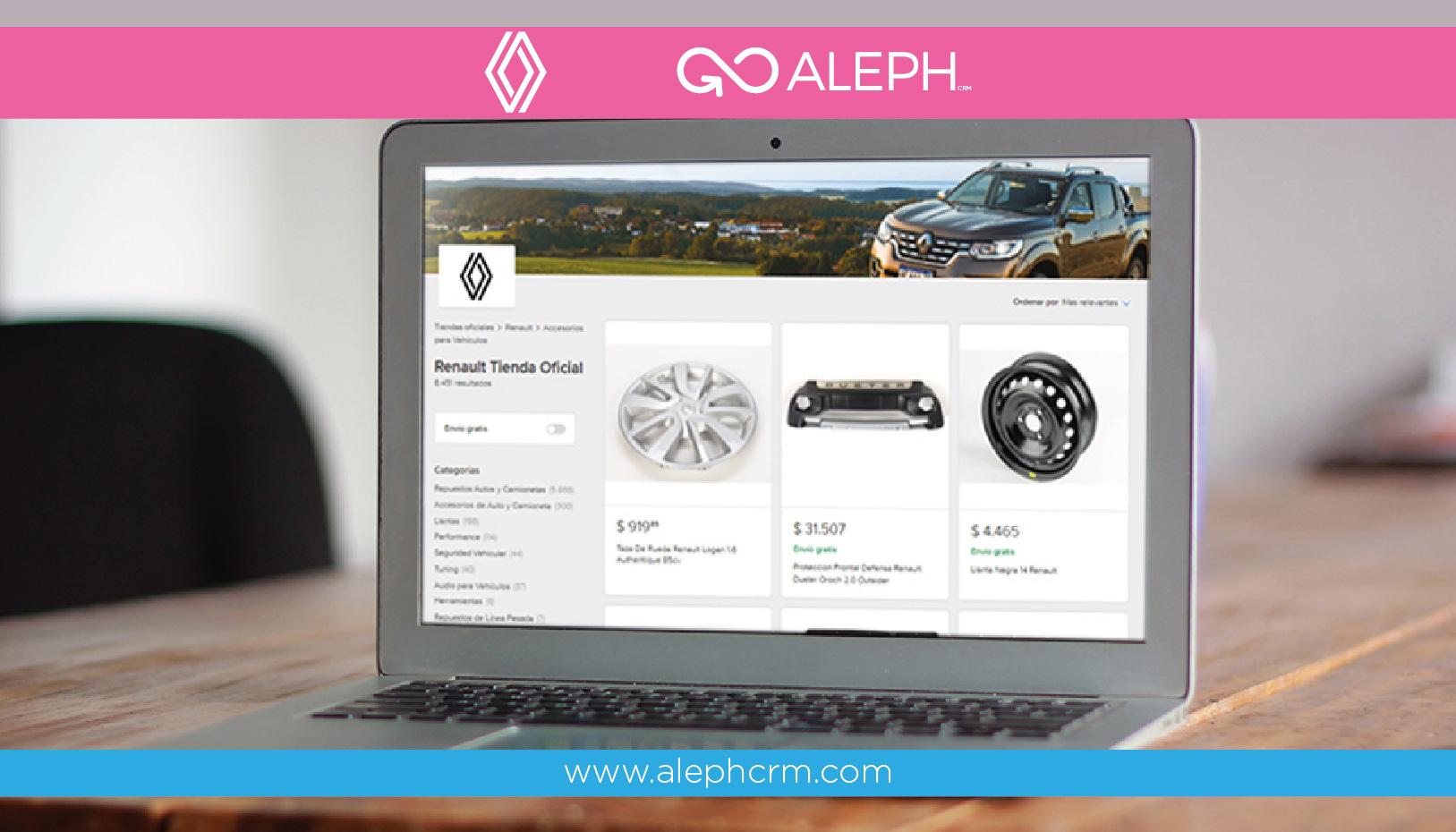 Renault lanza suTienda Oficialen Mercado Librejunto con AlephSolutions